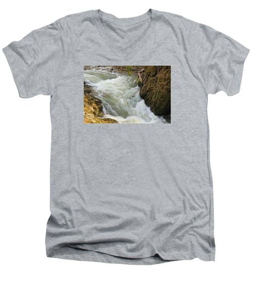 Men's V-Neck T-Shirt featuring the photograph Spring Rush by Julie Andel
