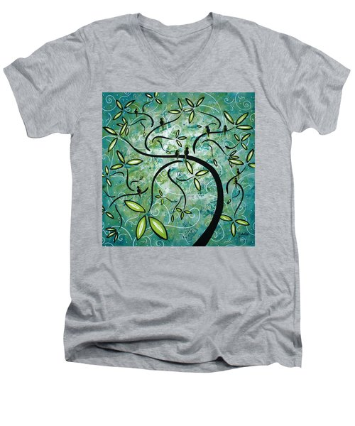 Spring Shine By Madart Men's V-Neck T-Shirt