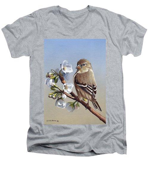 Spring Splendor Men's V-Neck T-Shirt by Mike Brown