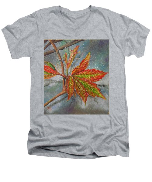 Spring Virginia Creeper Men's V-Neck T-Shirt