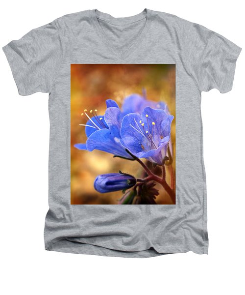 Spring Wildflowers - The Desert Bluebells Men's V-Neck T-Shirt