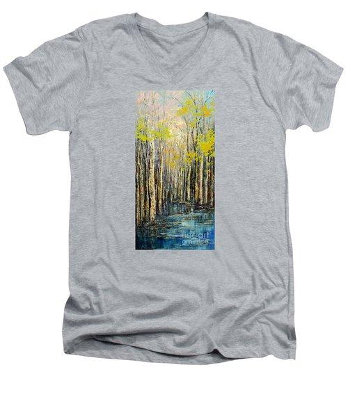 Spring Wind Men's V-Neck T-Shirt by Tatiana Iliina