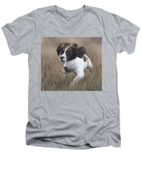 Springer Spaniel Painting Men's V-Neck T-Shirt