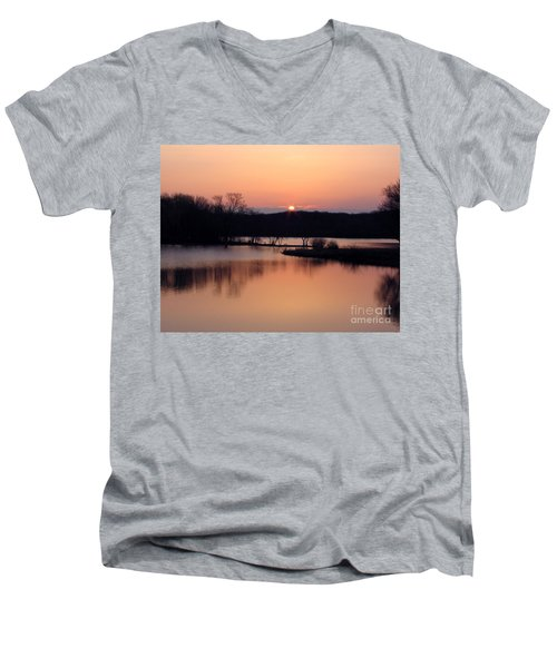 Springtime In Monee Men's V-Neck T-Shirt by Cedric Hampton