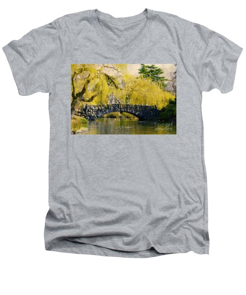 Springtime In Victoria Men's V-Neck T-Shirt by Marilyn Wilson