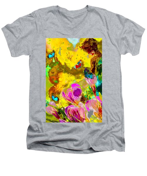 Springtime Splash Men's V-Neck T-Shirt