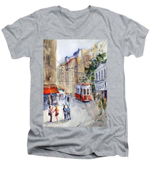 Square Tunel - Beyoglu Istanbul Men's V-Neck T-Shirt