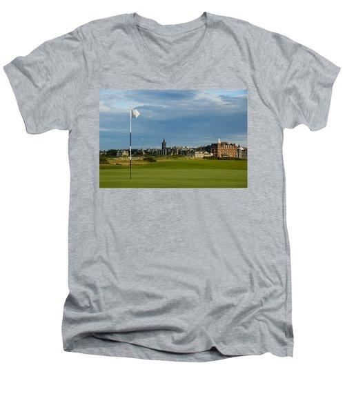 St Andrews Golf Men's V-Neck T-Shirt by Jeremy Voisey