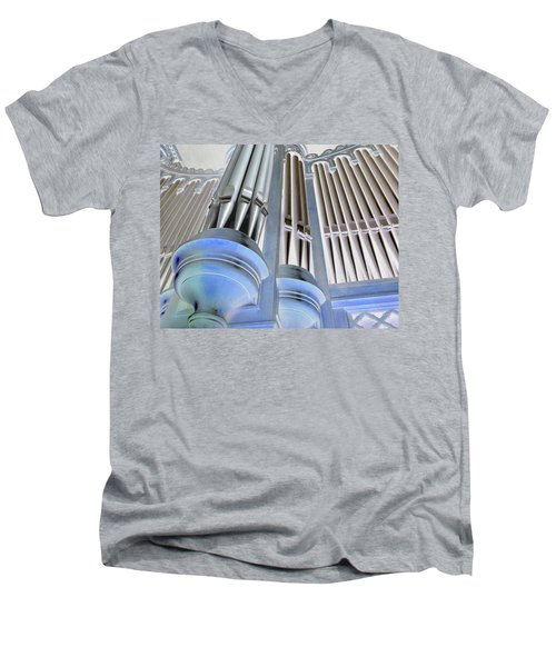 St Augustine Fantasy Organ Men's V-Neck T-Shirt