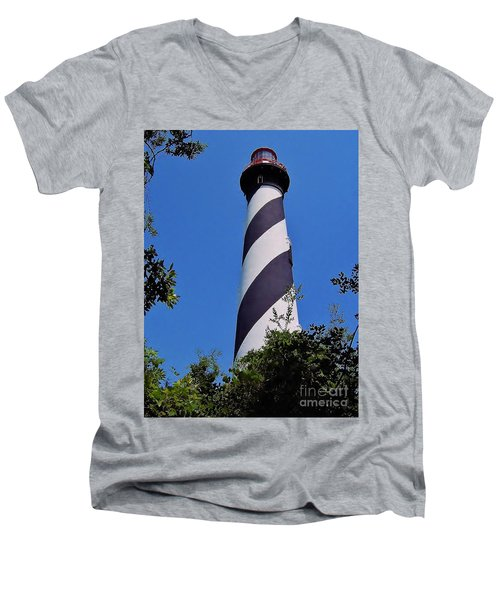 St Augustine Lighthouse Men's V-Neck T-Shirt