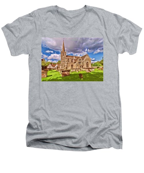 St Cyriac Church Lacock Men's V-Neck T-Shirt