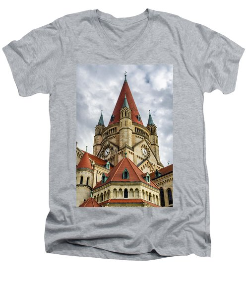 St. Francis Of Assisi Church In Vienna Men's V-Neck T-Shirt