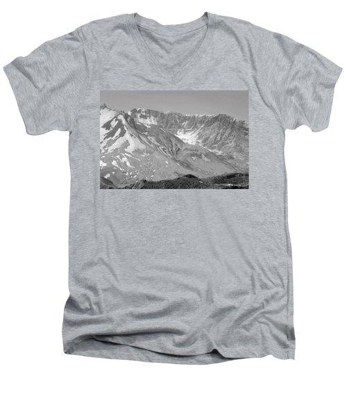 St. Helen's Crater Men's V-Neck T-Shirt by Tikvah's Hope