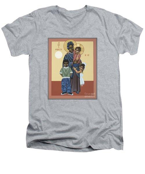 St. Josephine Bakhita Universal Sister 095 Men's V-Neck T-Shirt by William Hart McNichols