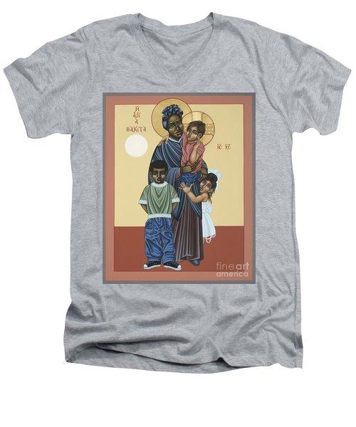 St. Josephine Bakhita Universal Sister 095 Men's V-Neck T-Shirt