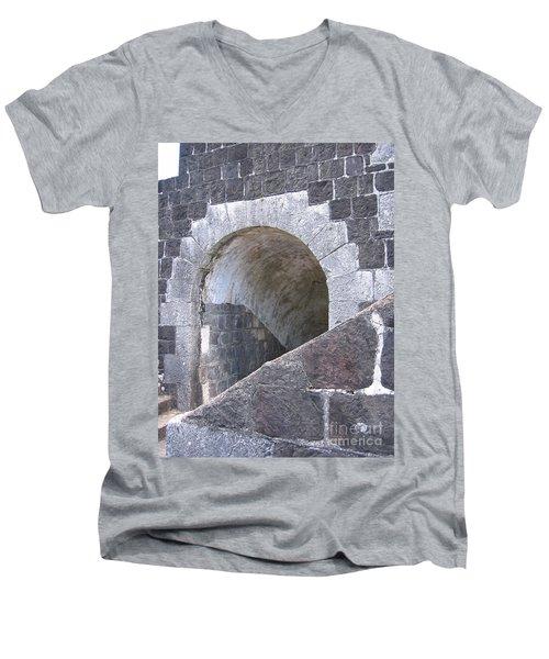 St. Kitts  - Brimstone Hill Fortress Men's V-Neck T-Shirt