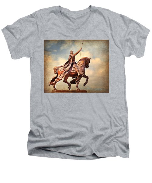 Men's V-Neck T-Shirt featuring the photograph St. Louis 4 by Marty Koch
