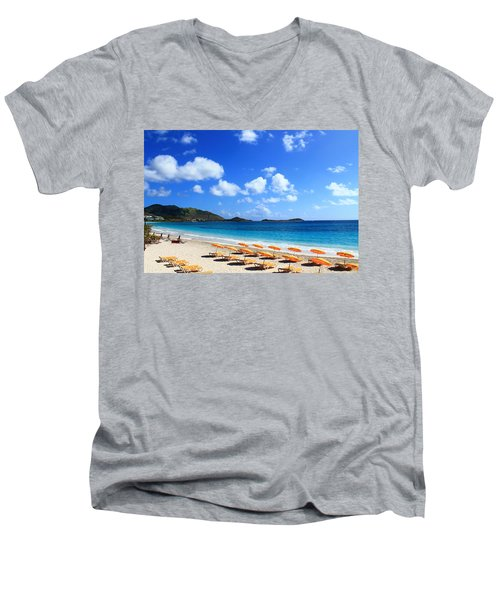 St. Maarten Calm Sea Men's V-Neck T-Shirt