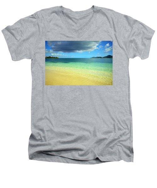 St. Maarten Tropical Paradise Men's V-Neck T-Shirt