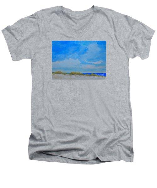 St. Pete Beach Spring Men's V-Neck T-Shirt