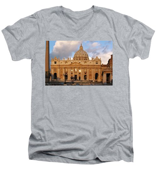 St. Peters Basilica Men's V-Neck T-Shirt