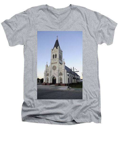 Men's V-Neck T-Shirt featuring the photograph St. Peter's by Fran Riley