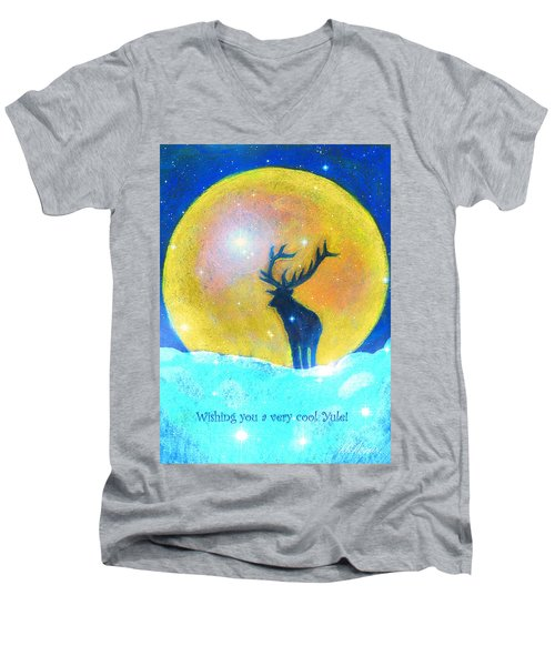 Stag Of Winter Men's V-Neck T-Shirt