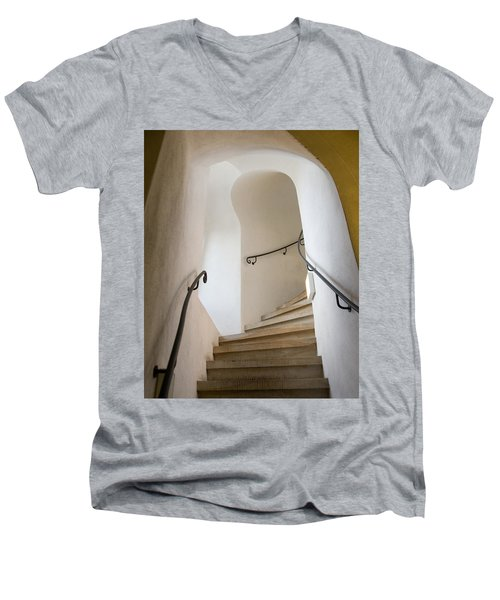 Stairway To Heaven Men's V-Neck T-Shirt by William Beuther
