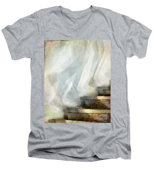 Left Behind Men's V-Neck T-Shirt by Jennie Breeze