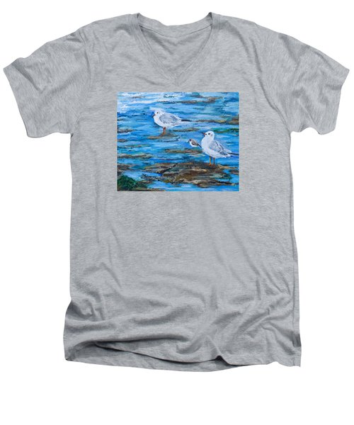 Sea Birds Wait Men's V-Neck T-Shirt
