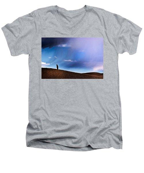 Standing Against The Wind Men's V-Neck T-Shirt