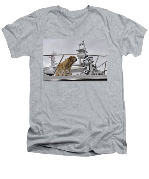 Standing Guard Men's V-Neck T-Shirt by Cathy Mahnke