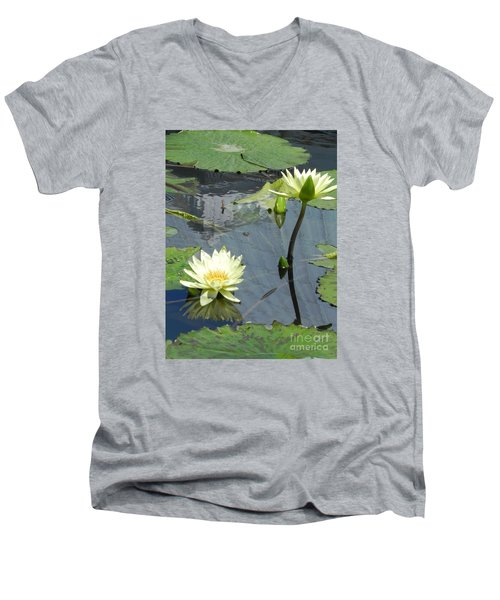 Men's V-Neck T-Shirt featuring the photograph Standing Tall With Beauty by Chrisann Ellis