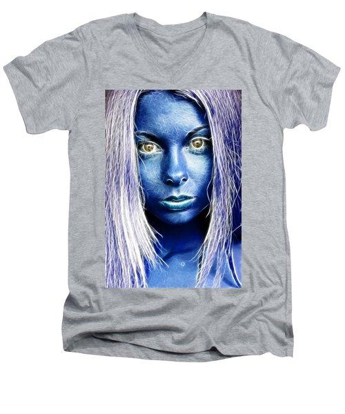 Star Girl Men's V-Neck T-Shirt by Richard Thomas