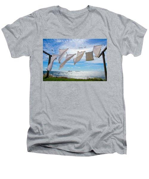 Star Island Clothesline Men's V-Neck T-Shirt