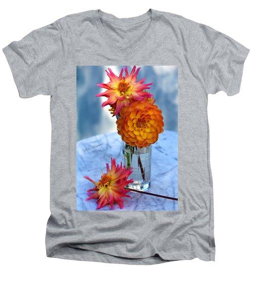 Starfire Men's V-Neck T-Shirt by Jeanette C Landstrom
