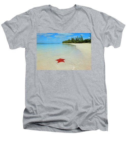 Starfish 5 Of Bottom Harbour Sound Men's V-Neck T-Shirt