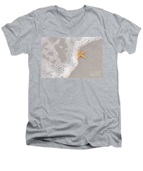 Starfish In The Surf Men's V-Neck T-Shirt
