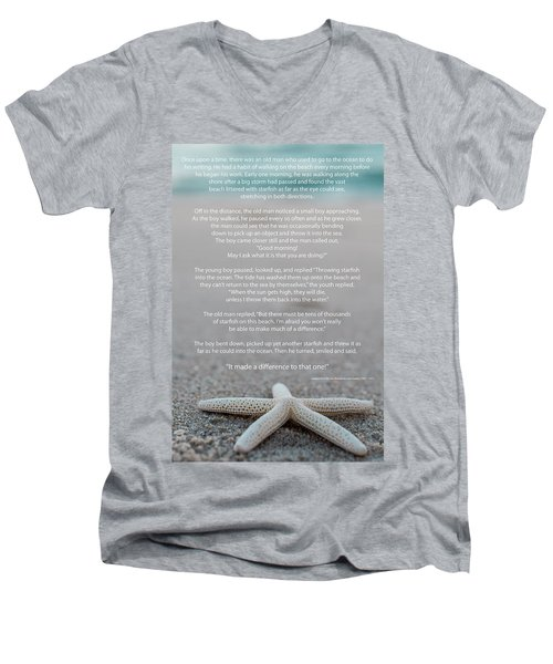 Starfish Make A Difference  Men's V-Neck T-Shirt