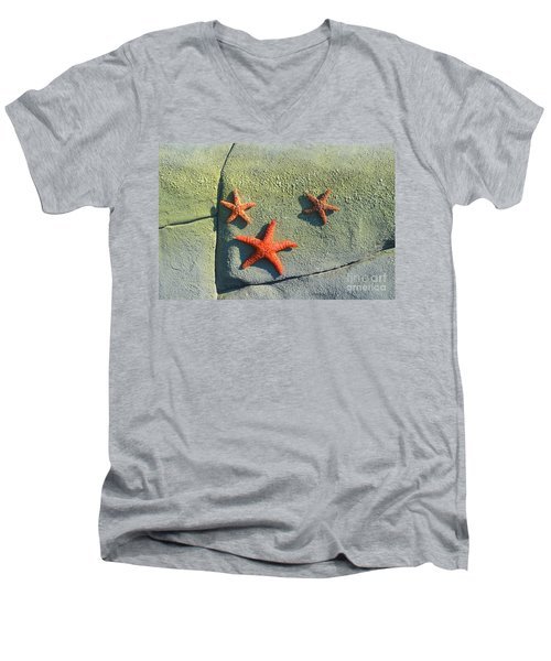 Starfish On The Rocks Men's V-Neck T-Shirt