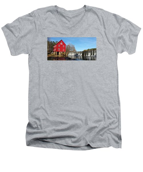 Starr's Mill In Senioa Georgia Men's V-Neck T-Shirt