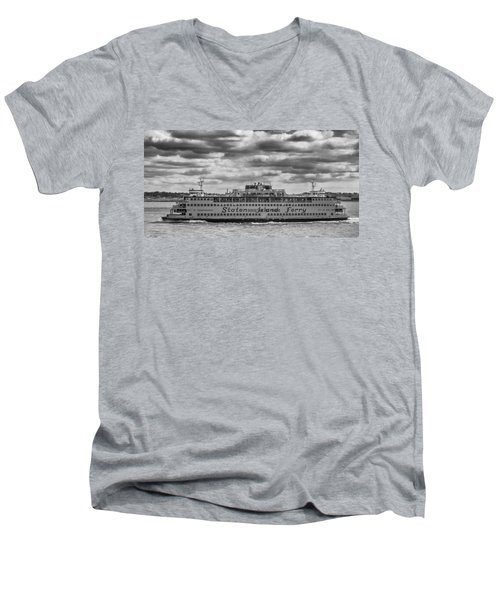 Staten Island Ferry 10484 Men's V-Neck T-Shirt