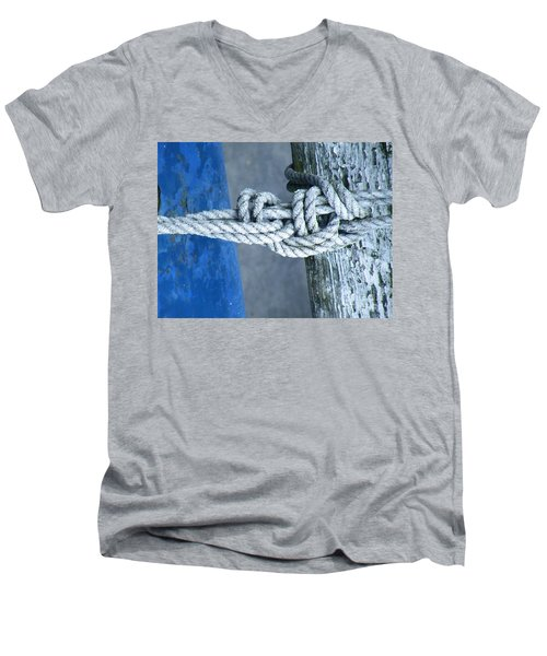 Men's V-Neck T-Shirt featuring the photograph Stay by Brian Boyle