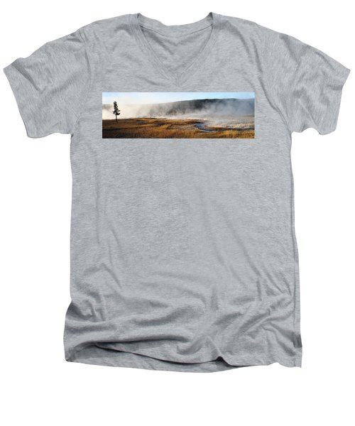 Steam Creek Men's V-Neck T-Shirt by David Andersen
