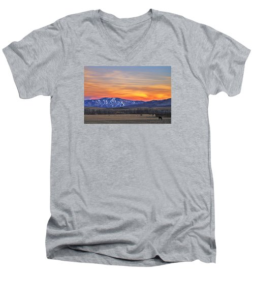 Steamboat Alpenglow Men's V-Neck T-Shirt