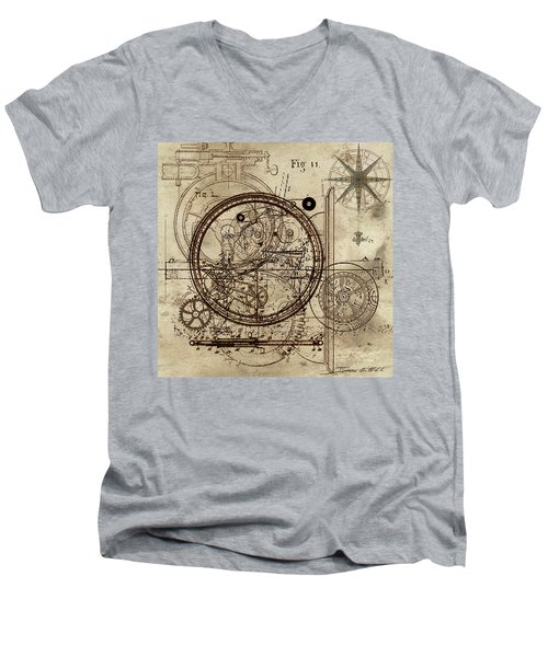 Steampunk Dream Series IIi Men's V-Neck T-Shirt