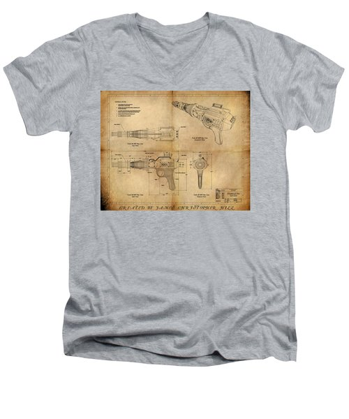Steampunk Raygun Men's V-Neck T-Shirt