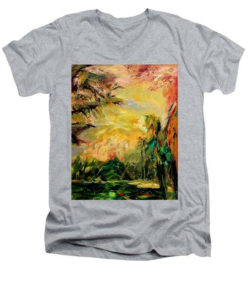 Steamy Cove Men's V-Neck T-Shirt