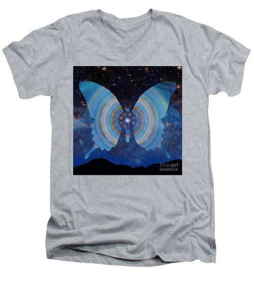 Stellar Butterfly Men's V-Neck T-Shirt