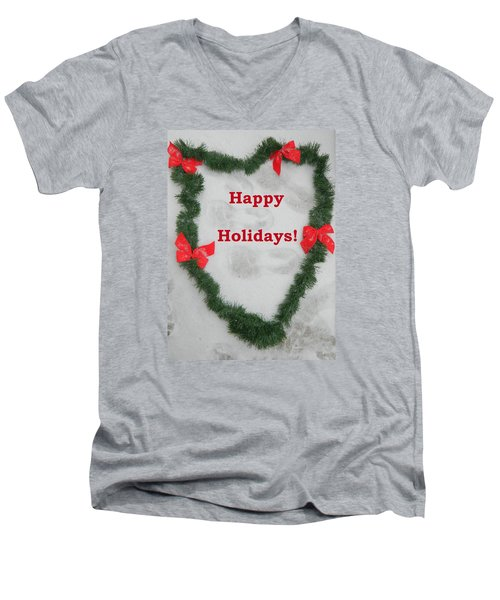 Men's V-Neck T-Shirt featuring the photograph Stepping Into The Holidays by Emmy Marie Vickers